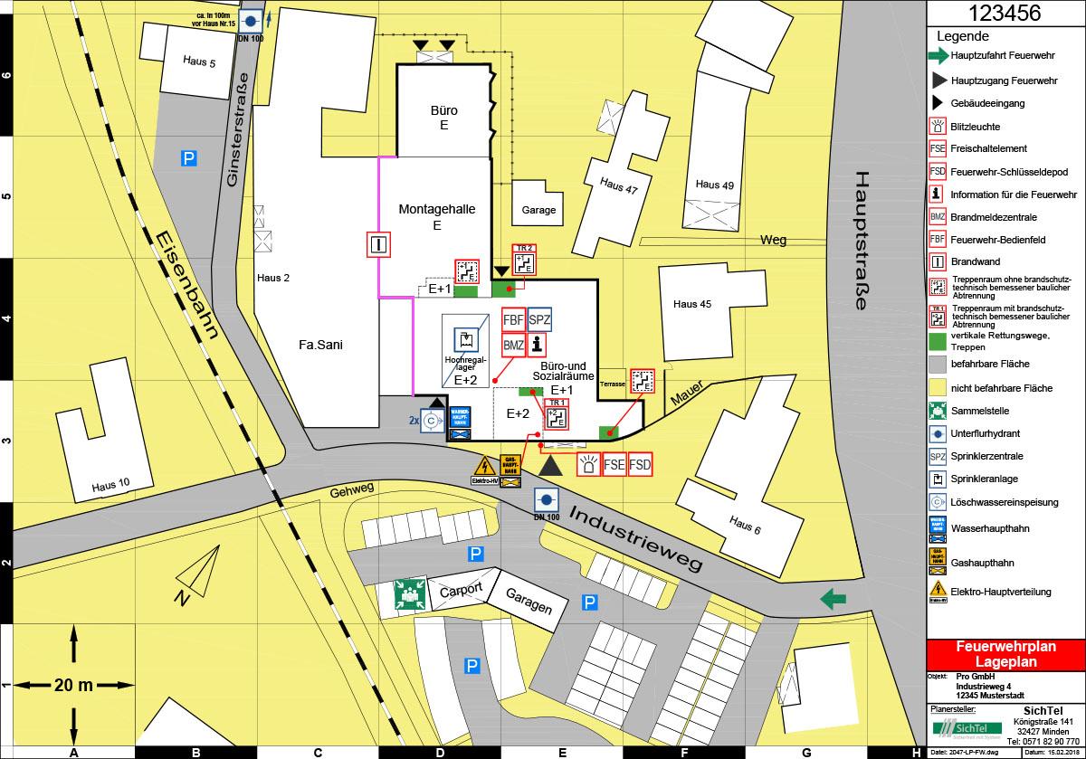 Feuerwehrplan individuell erstellt von SichTel